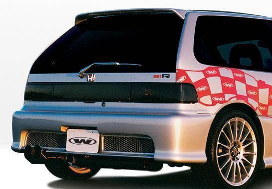 Wings West - 1988-1991 Honda Civic Hb Racing Series Rear Bumper Cover