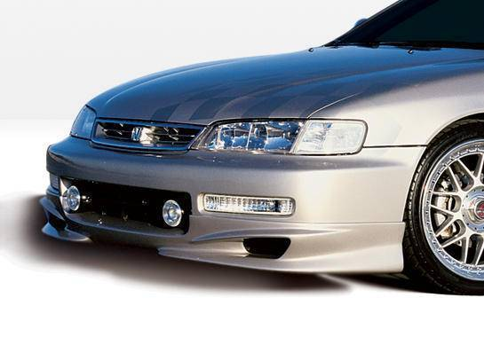 Wings West - 1996-1997 Honda Accord All Models W-Typ Front Lip Polyurethane 4 Cylinder Only