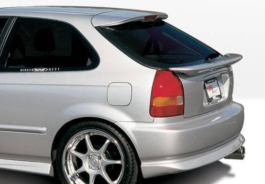 Wings West - 1996-2000 Honda Civic Hb Racing Series Rear Lip Polyurethane