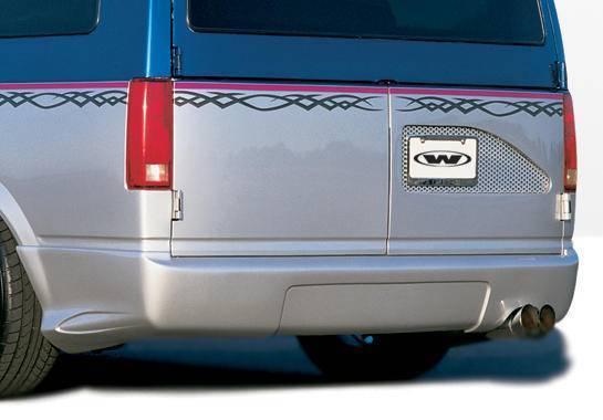 Wings West - 1995-2002 Chevrolet Astro Van W-Typ Rear Lip Polyurethane