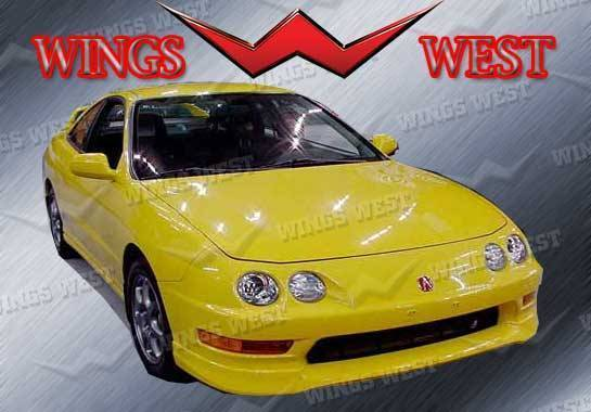 Wings West - 1998-2001 Acura Integra 2/4Dr Type R Front Lip Polyurethane