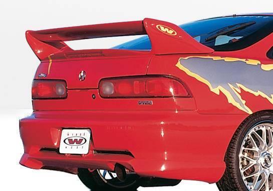 Wings West - 1998-2001 Acura Integra 2Dr W-Typ Rear Lip Polyurethane