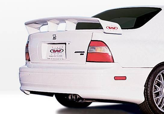Wings West - 1994-1995 Honda Accord All Models W-Typ Rear Lip Polyurethane
