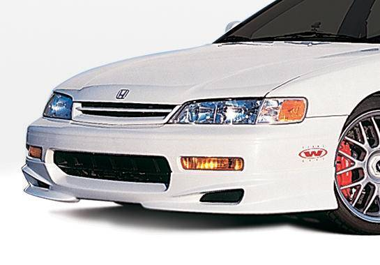 Wings West - 1994-1995 Honda Accord All Models W-Typ Front Lip Polyurethane 4 Cylinder Only