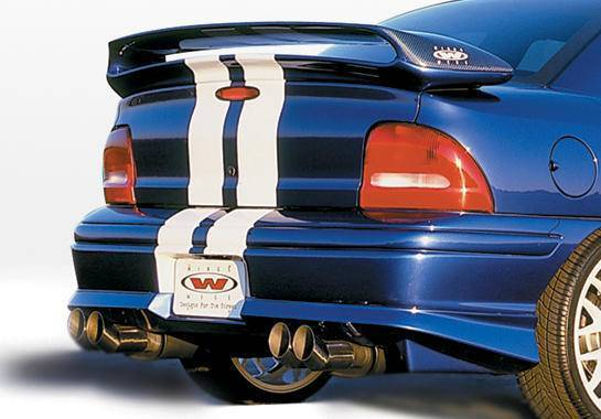 Wings West - 1995-1999 Dodge Neon 2/4 Door Racing Series Rear Lip Polyurethane