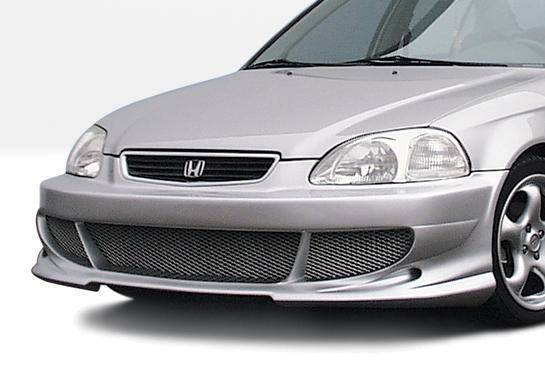 Wings West - 1996-1998 Honda Civic All Models Bigmouth Front Bumper Cover