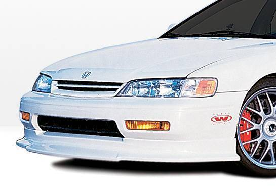 Wings West - 1996-1997 Honda Accord All Models Touring Style Front Lip Polyurethane 4 Cylinder Only