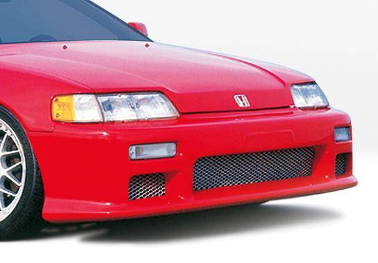 Wings West - 1988-1991 Honda Crx Racing Series Front Bumper Cover Polyurethane