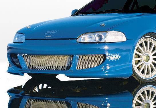 Wings West - 1992-1995 Honda Civic 2Dr/Hb Bigmouth Front Bumper Cover