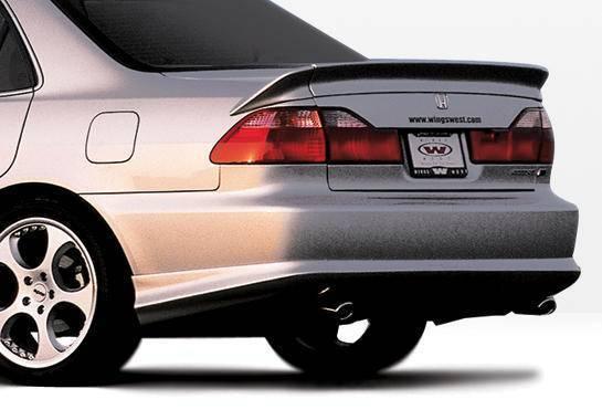 Wings West - 1998-2002 Honda Accord 4Dr W-Typ Rear Lip Polyurethane