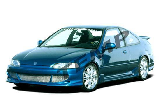 Wings West - 1992-1995 Honda Civic 2Dr Bigmouth 4Pc Complete Kit W/Racing Series Sides & Rear