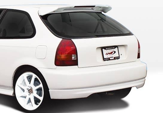Wings West - 1996-2000 Honda Civic Hb Type R Rear Lip Polyurethane