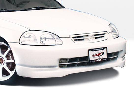 Wings West - 1999-2000 Honda Civic All Models Type R Front Lip Polyurethane