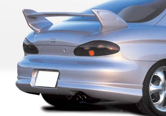 Wings West - 1997-1999 Hyundai Tiburon W-Typ Rear Lip Polyurethane