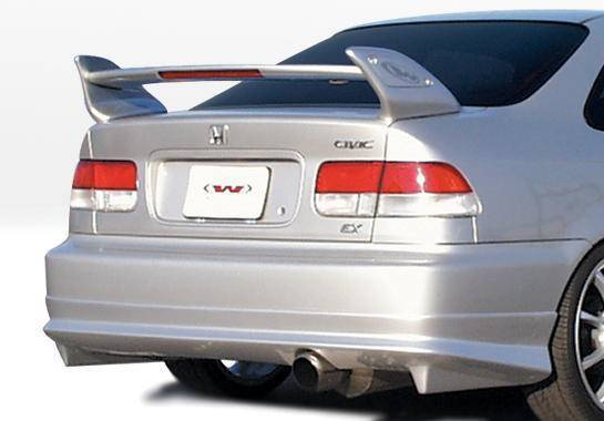 Wings West - 1999-2000 Honda Civic 2/4 Door W-Typ Rear Lip Polyurethane