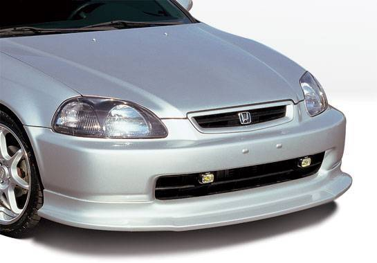 Wings West - 1999-2000 Honda Civic All Models Touring Style Front Lip Polyurethane