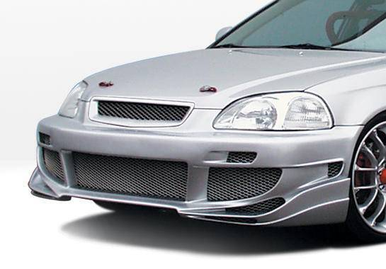 Wings West - 1999-2000 Honda Civic All Models Avenger Front Bumper Cover