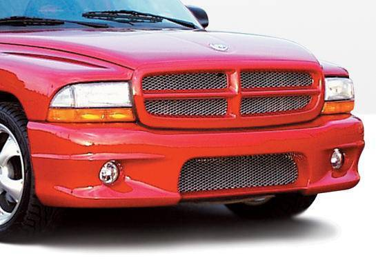Wings West - 1997-2003 Dodge Dakota Club Cab W-Type Front Bumper Cover