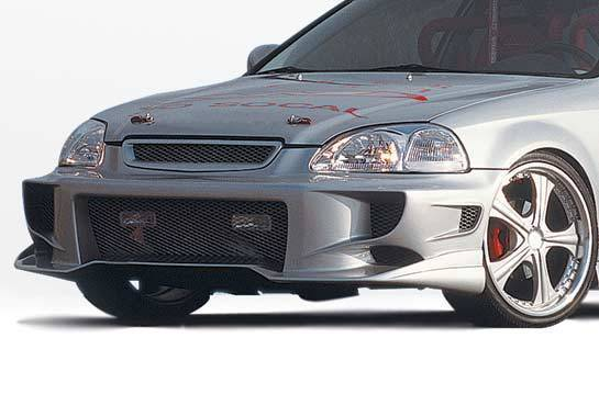 Wings West - 1996-1998 Honda Civic All Models Aggressor Type 2 Front Bumper Cover