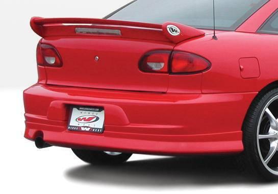 Wings West - 2000-2002 Chevrolet Cavalier 2Dr. W-Typ Rear Lip Polyurethane