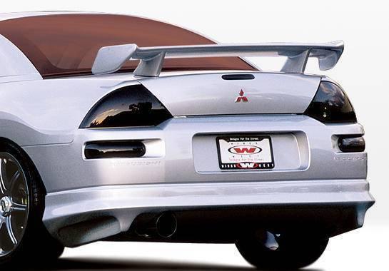 Wings West - 2000-2005 Mitsubishi Eclipse 2Dr W-Typ Rear Lip Polyurethane