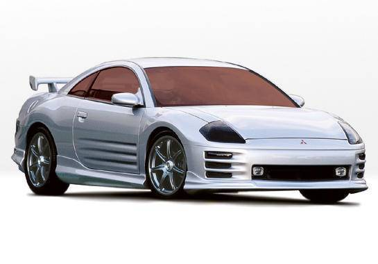 Wings West - 2000-2002 Mitsubishi Eclipse 2Dr W-Typ 4Pc Complete Kit
