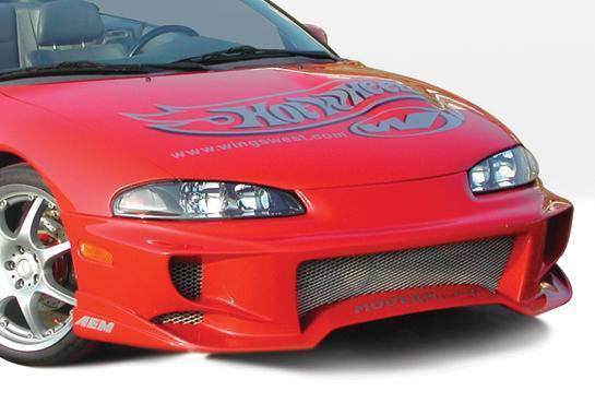 Wings West - 1997-1999 Mitsubishi Eclipse Aggressor Front Bumper Cover Polyurethane