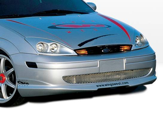 Wings West - 2000-2004 Ford Focus 4Dr W-Typ Front Lip Polyurethane