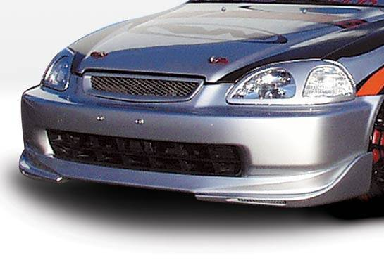 Wings West - 1996-1998 Honda Civic All Models W-Typ Front Lip Polyurethane