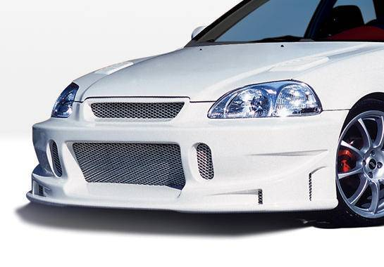 Wings West - 1996-1998 Honda Civic All Models Tuner Type I Front Bumper Cover