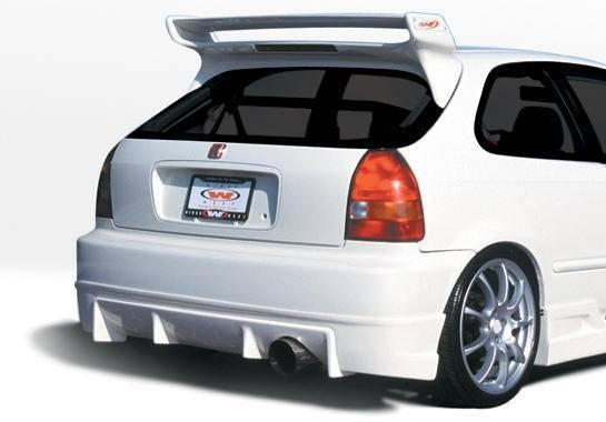 Wings West - 1996-2000 Honda Civic Hb Tuner Typ I Rear Lip Polyurethane