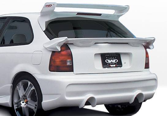 Wings West - 1996-2000 Honda Civic Hb Tuner Type 2 Rear Bumper Cover