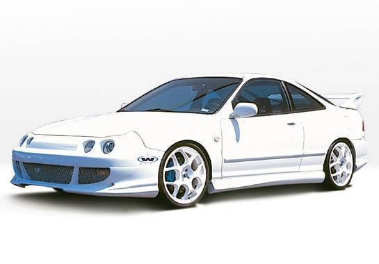 Wings West - 1998-2001 Acura Integra 2Dr Bigmouth 4Pc Complete Kit