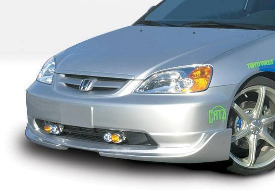 Wings West - 2001-2003 Honda Civic 2/4Door G5 Series Front Lip Polyurethane