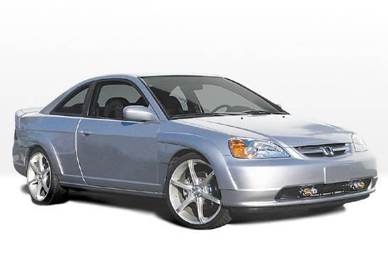 Wings West - 2001-2003 Honda Civic 2 Door Extreme 7Pc Fender Flare
