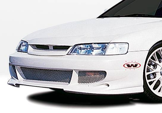 Wings West - 1994-1997 Honda Accord All Models Bigmouth Front Bumper Cover 4 Cylinder Only