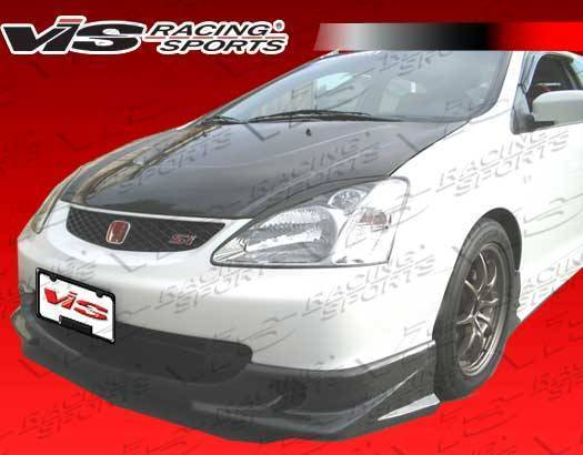 VIS Racing - 2002-2003 Honda Civic Si Jdm Hb Techno R Carbon Fiber Front Lip