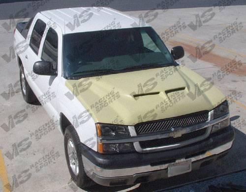 VIS Racing - 2003-2006 Chevrolet Silverado Fiber Glass Outlaw Type 2 Hood