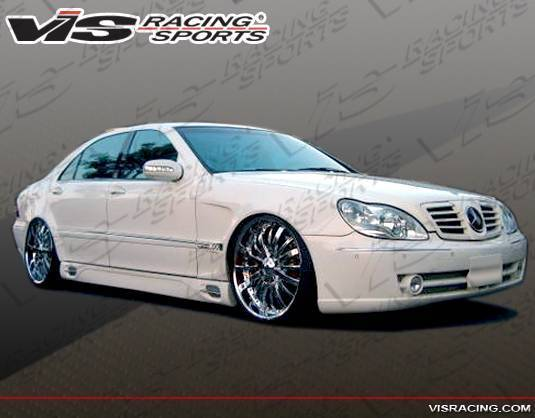 VIS Racing - 2000-2006 Mercedes S-Class W220 Long Wheelbase Laser F1 Side Skirts
