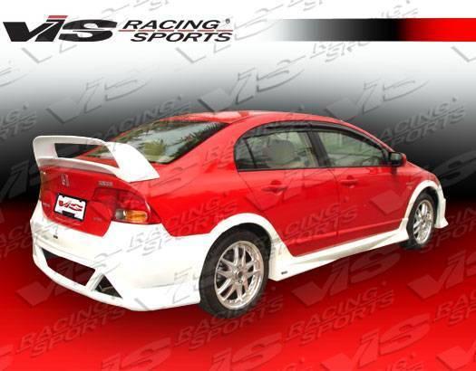 VIS Racing - 2006-2011 Honda Civic 4Dr Type R Concept 2 Rear Spoiler
