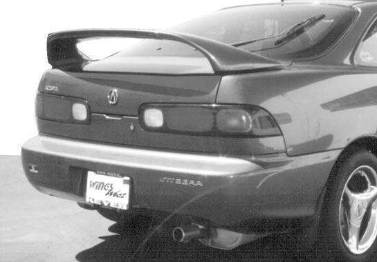 VIS Racing - 1994-2001 Acura Integra 2Dr 7 inches Mid Wing With Light