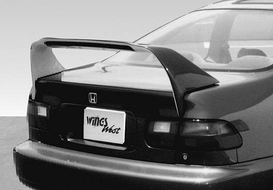 VIS Racing - 1992-1995 Honda Civic Coupe R.S. Racing Series Wing With Light