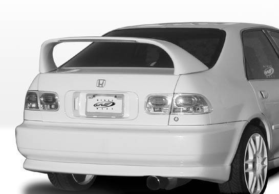VIS Racing - 1992-1995 Honda Civic 4Dr Super Style Wing With Light