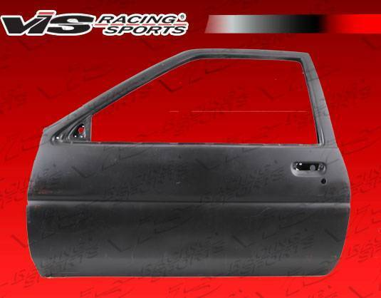 VIS Racing - 1984-1987 Toyota Corolla 2D Hb Oem Style Fiberglass Door Pair