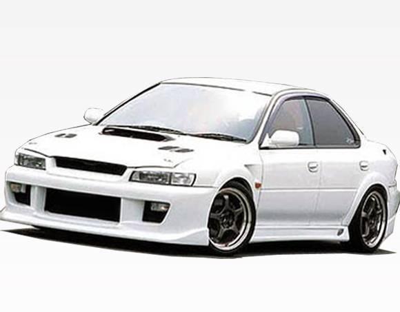 VIS Racing - 1993-2001 Subaru Impreza 4Dr Z Speed  Side Skirt