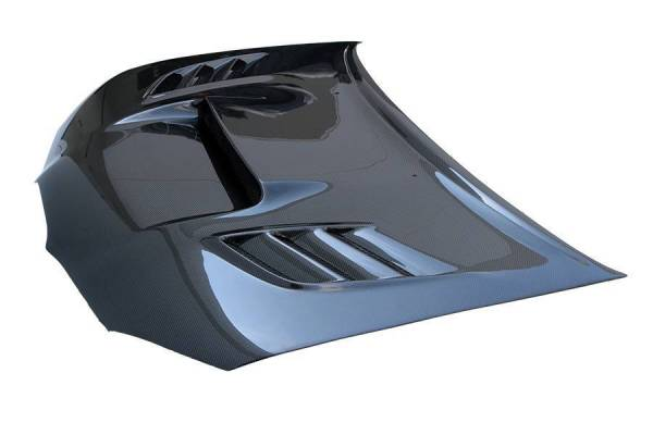 VIS Racing - Carbon Fiber Hood VS2 Style for Subaru WRX 4DR 06-07