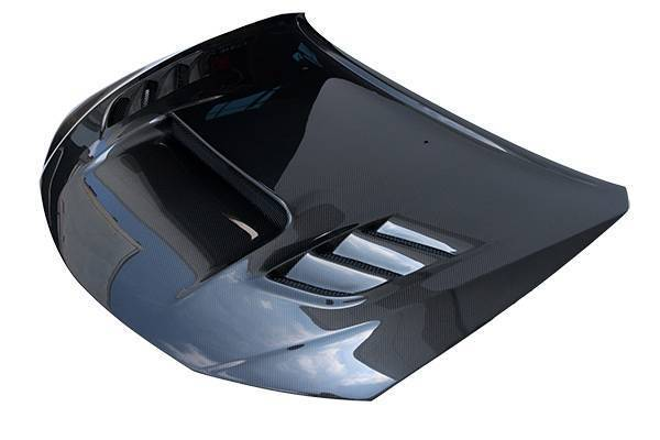 VIS Racing - Carbon Fiber Hood VS2 Style for Subaru WRX Hatchback & 4DR 08-14
