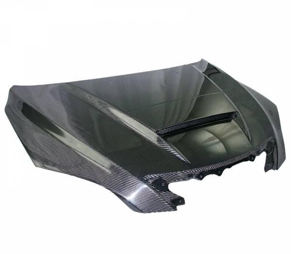 VIS Racing - Carbon Fiber Hood M Speed Style for Mazda 3 Hatchback 04-09
