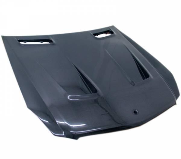 VIS Racing - Carbon Fiber Hood BLK Series Style for Mercedes SL 2DR 03-12