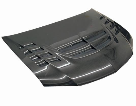 VIS Racing - Carbon Fiber Hood VTX Style for Mitsubishi EVO 9 4DR 06-07